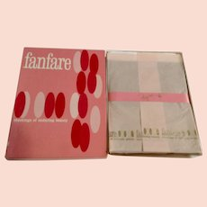 1960's Nine Pair Fanfare Seamless 100% Nylon Microfilm Stockings 10-1/2 Rose Taupe Irregulars 400 Deluxe NIB