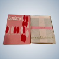 "Vintage Stockings Fanfare Seamless 100% Nylon Microfilm 10-1/2"" Rose Taupe Irregulars 400 Deluxe 1960's Nine Pair NIB"