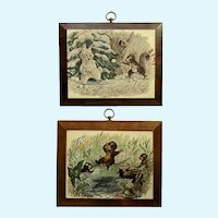 Maurice Day, Fun Vintage Anthropomorphic Animal Wall Plaques