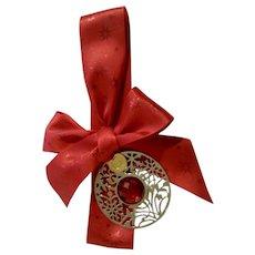 Godiva Chocolates Sparkle Christmas Ornament with Original Red Ribbon Retired Ornament