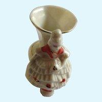 Porcelain Toothpick Holder Elegant Lady Vase Circa 1920's Japan Figurine
