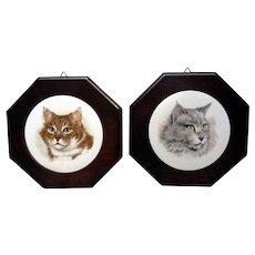 Adorable Jerry Schultz Kitty Cat Porcelain Tile Wall Art