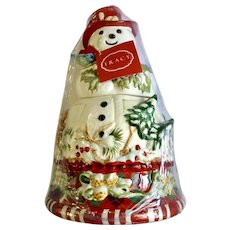 Vintage Tracy Porter Snowman Jolly Ol' Snowy Cookie Jar Never Used Have a Jolly Holiday Christmas