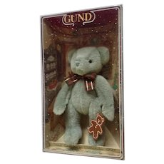 Gund 1997 Christmas Teddy Bear Plush Collectable Collection Yulebeary #8897 Ginger Bear Cookie
