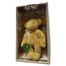 Gund 2000 Christmas Teddy Bear Plush Collectable Collection Yulebeary #8900 Holding Holly Ornament
