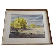 William Berry Schimmel AWS (1906-1986) Palo Verde In Spring Landscape Watercolor Painting Signed by Listed Arizona Artist
