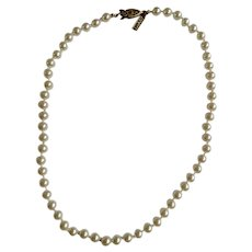 """Napier Faux Pearl Beaded Necklace 16-3/4"""" Long"""