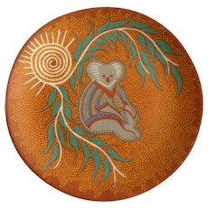 Rare Pam Hall Aboriginal Baribunma Art Plate To Dream About Koala Aborigine Dreaming Collectors Plate Australian Porcelain Fine China