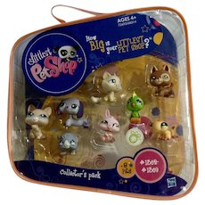 2009 Limited Edition Littlest Pet Shop #1362-1369 In Original Carrying Case Never Opened Retired Set