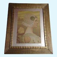 Paul Berthon (1872-1909) Sa Tres Gracieuse Majeste Girl Portrait Lithograph Print
