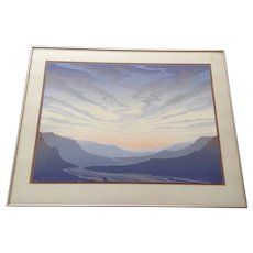 Ron Hoeksema Serigraph Desert Song Limited Edition Screen Print Signed by Colorado Listed Artist