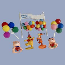 Disney Winnie the Pooh Tigger Birthday Balloons Banner Cake Toppers Cupcake Picks Group