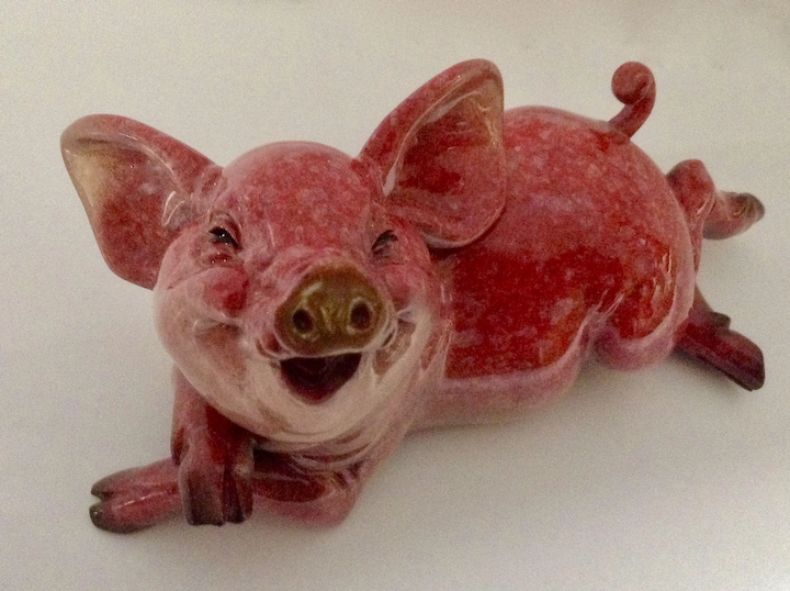 Pen Pals Pigmalion Adorable Pink Pig Kitty's Critters Discontinued Retired  Figurine
