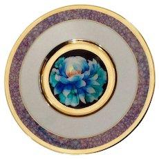 Chrysanthemum Floral Cloisonne Plate Flower Festivals of Japan Hamilton Collection Collectors Plate
