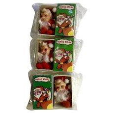 Vintage Santa Claus Christmas Ornaments in Box Never Used Made in Hong Kong