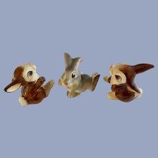 Thumper Blossom Walt Disney Productions Ceramic Figurines Bunny Rabbits