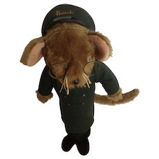 Harrod's Department Store Doorman Mouse Door Stop Jane's Originals 1950's England Stuffed Animal