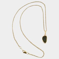 """Cut and Polished Natural Geode on 14kt Gold Filled Chain Necklace 18"""""""