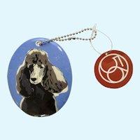 Retired Department 56 Enesco Go Dog Standard Black Poodle Porcelain Christmas Ornament