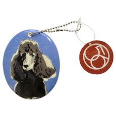 Retired  Department 56 Enesco Go Dog Standard Black Poodle Porcelain Christmas Ornament # 4039516