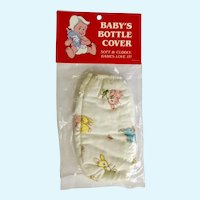 1982 Baby Bottle Cover Bunny Rabbits Fits 8oz Bottle Made U.S.A.