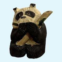 Artesania Rinconada DeRosa Old Panda Bear Figurine AR Uruguay