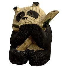 Artesania Rinconada DeRosa Old Panda Bear Figurine AR Uruguay #54 1980's
