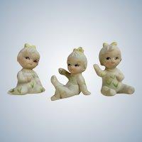 UOGC Baby of the Month Bisque Corn Pajama Girls Japan Figurines