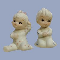 UOGC Baby of the Month Bisque Boy  Girl Japan Figurines