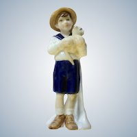 Royal Doulton Special Friend HN 3607 Sailor Boy with Pet Kitty Cat Figurine