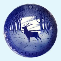 Royal Copenhagen Denmark Porcelain Collectors Plate The Stag 1960 Deer Wall Hanging