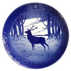 Royal Copenhagen Denmark Porcelain Collectors Plate The Stag 1960 Deer Wall Hanging