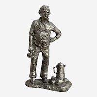Camp Coffee Michael Anthony Ricker Pewter Figurine 1976