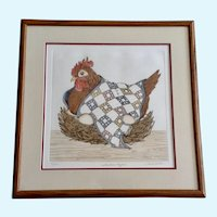 Linda Cullen Hen 'Southern Comfort' Etching Limited Edition Print Signed By Artist