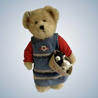 Boyds Bears 'The Head Bean Collection' Katie, Free Kittens Kitty Cat Adorable Plush Stuffed Teddy Bear