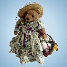 Bearly People Bears Bunny's Pansy Patch English Garden Edition 19 Inches Tall Cheryl De Rose