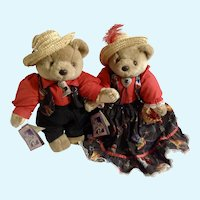Bearly People Bears Lazy J Wrangler and Sweet Virginia Costume Ball Jointed Southwestern Plush Stuffed Animals