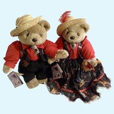 Bearly People Bears Jointed Southwestern Plush Stuffed Animals