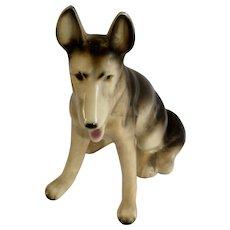 Mid-Century German Shepherd Dog Figurine Made in Japan