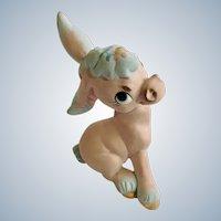 Rare Freeman McFarlin Originals Pink Donkey with Blue Highlights Figurine California Pottery