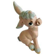 Rare Freeman McFarlin Originals Pink Donkey with Blue Highlights Figurine California Pottery