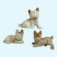 Vintage Boxer Family Bone China Miniatures Japan