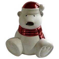 Retired Slatkin & Co Paws The Polar Bear Christmas Candle Cinnamon Stick #9274G3A1 Unused 2009 Signed by Harry Slatkin
