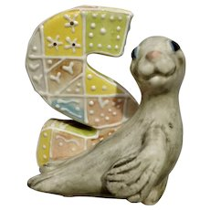 KoKo Originals S Seal Athena Boulgarides Animal on Whimsical Letter Figurine Discontinued