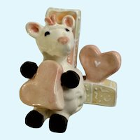 KoKo Originals L Lama Athena Boulgarides Animal with hearts on Whimsical Letter Figurine Discontinued