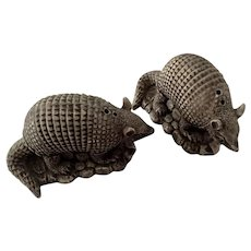 Adorable Armadillo Animal Salt & Pepper Shakers Pottery S&P