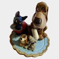 Lil Classics Disney Store Lady & The Tramp Trusty & Jock Dogs PVC Figurine Discontinued