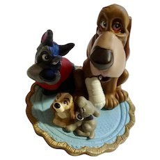Discontinued Vintage Lil Classics Disney Store Lady & The Tramp Trusty & Jock Dogs PVC Figurine