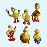 1980's Big Bird Sesame Street Cake Topper Figurines Muppets