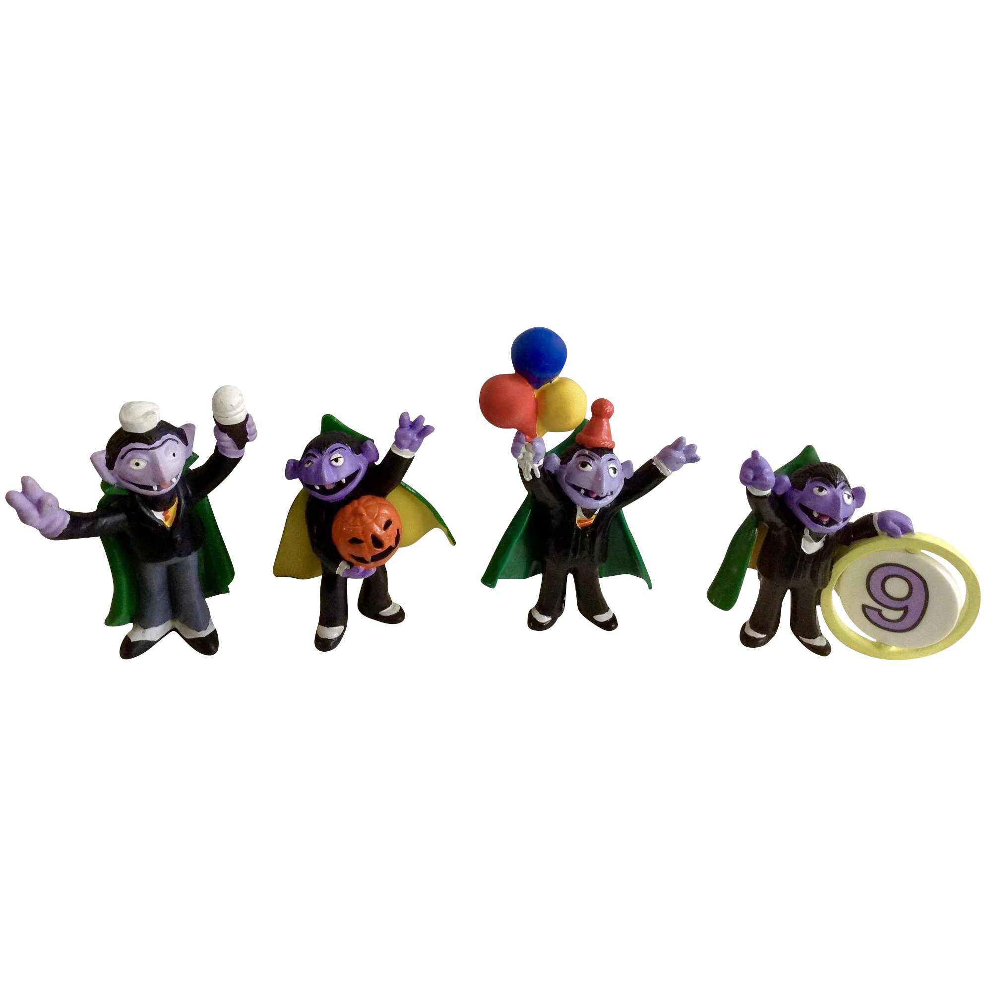 Halloween 1980 S Count Von Count Dracula Sesame Street Figurines Muppets Inc Applause Tm Ctw Tara Toy Corp Plastic Cake Topper Collection